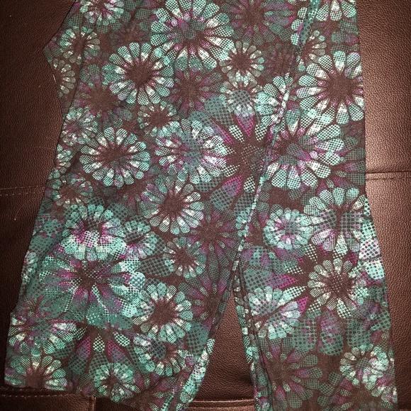 LuLaRoe Pants - LuLaRoe TC Leggings - Blue and Purple Floral